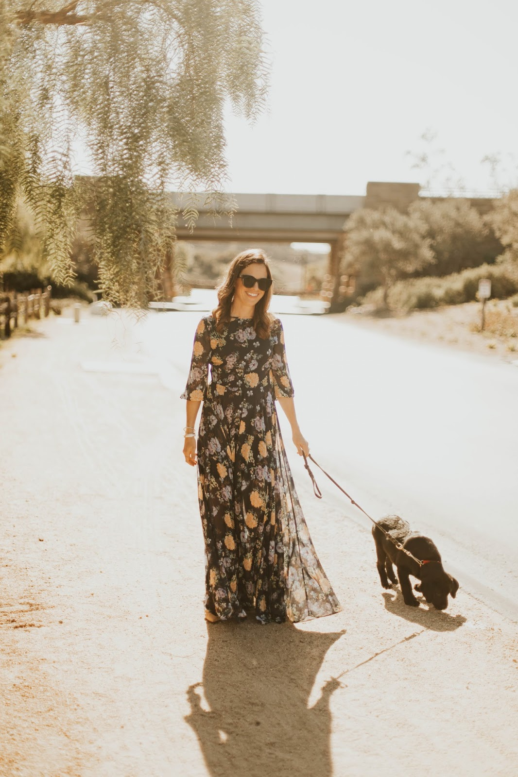 formal floral maxi dress outfit