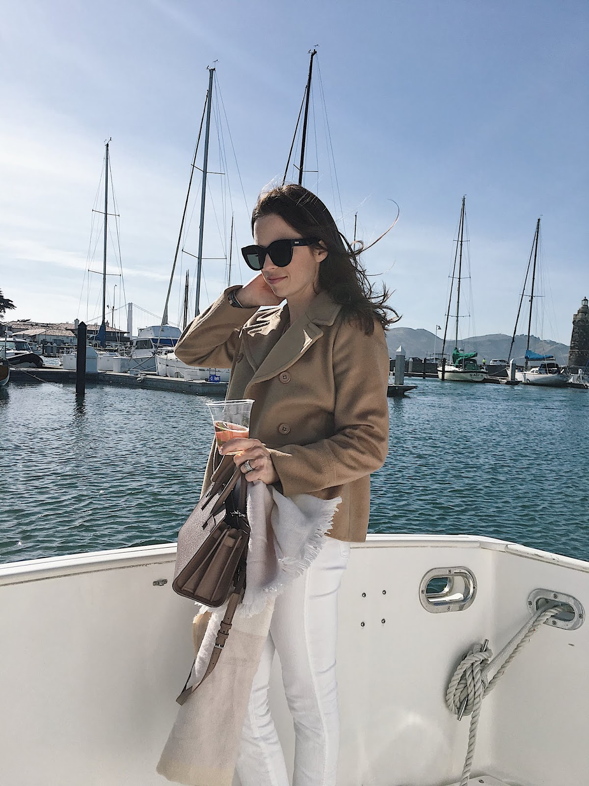 blogger on a boat