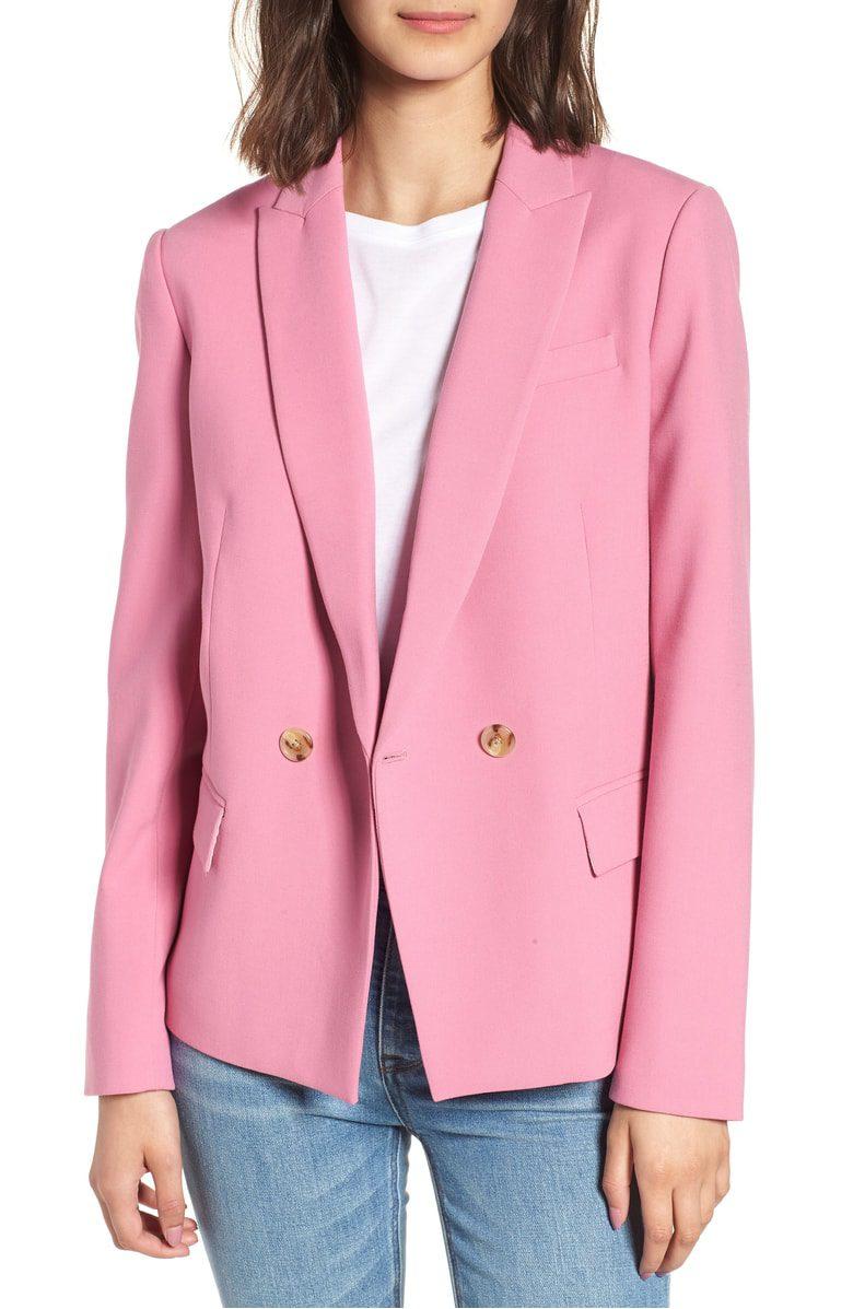 j.crew pink blazer
