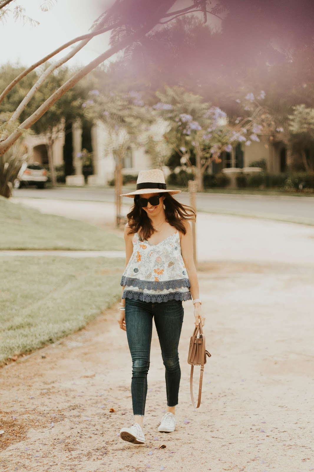 straw fedora outfit