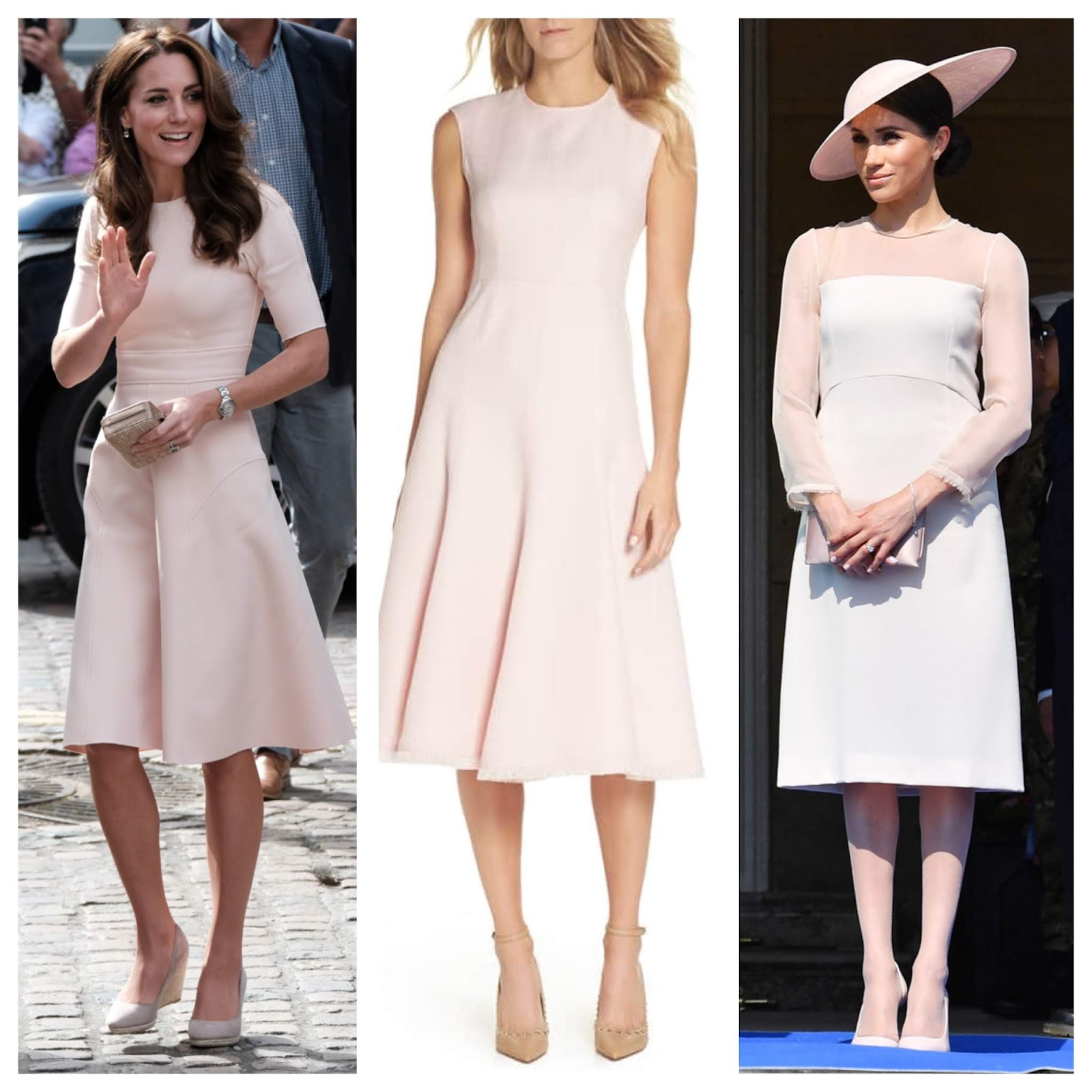 duchess dress in blush pink