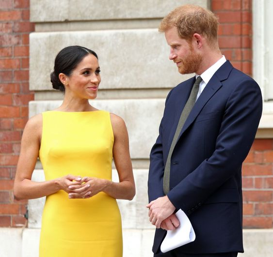 meghan markle yellow dress