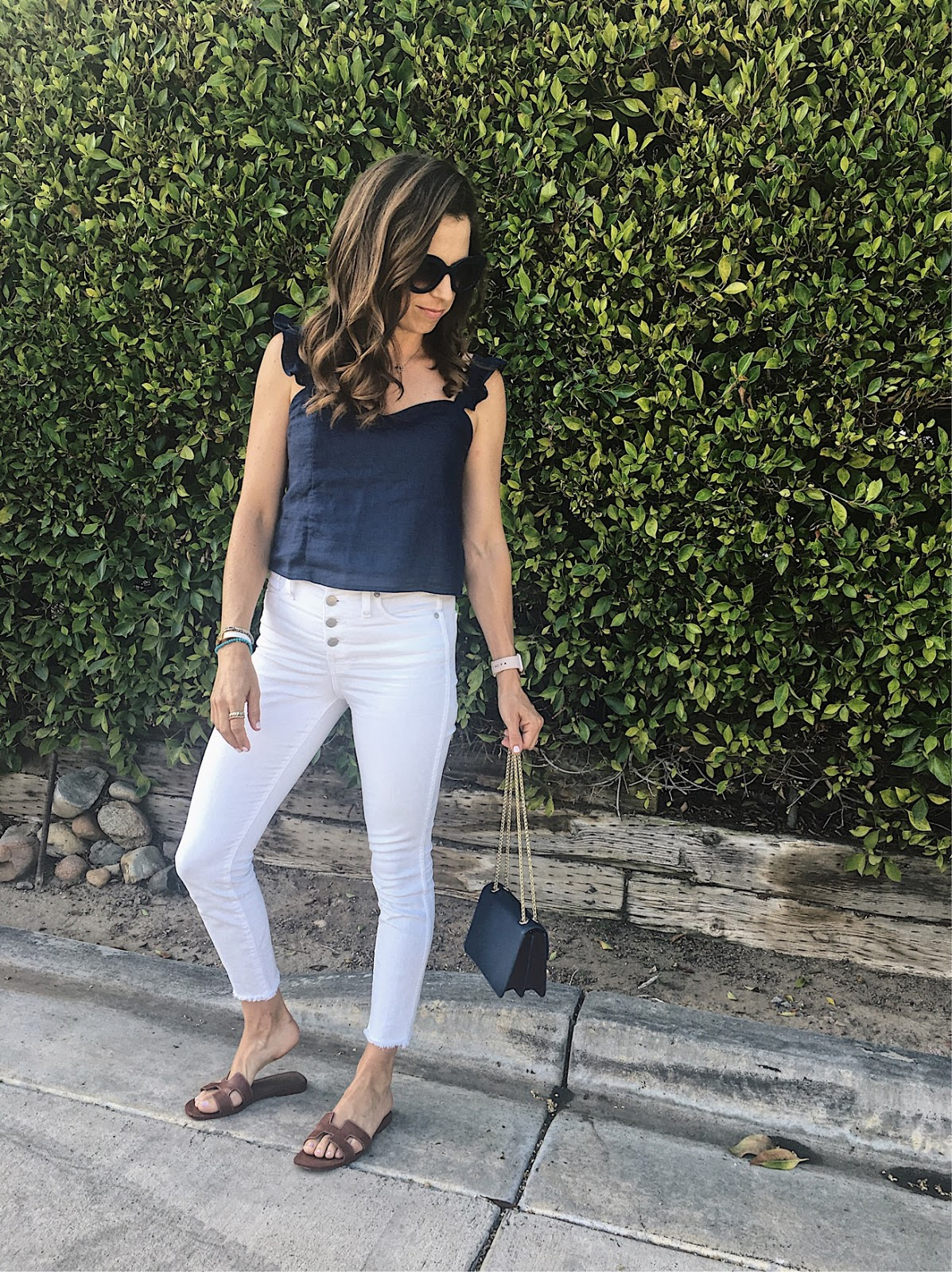 white button fly jeans
