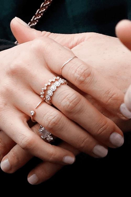 meghan markle's dainty rings