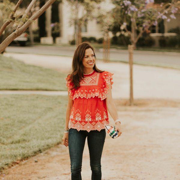 navy and orange {outfit}