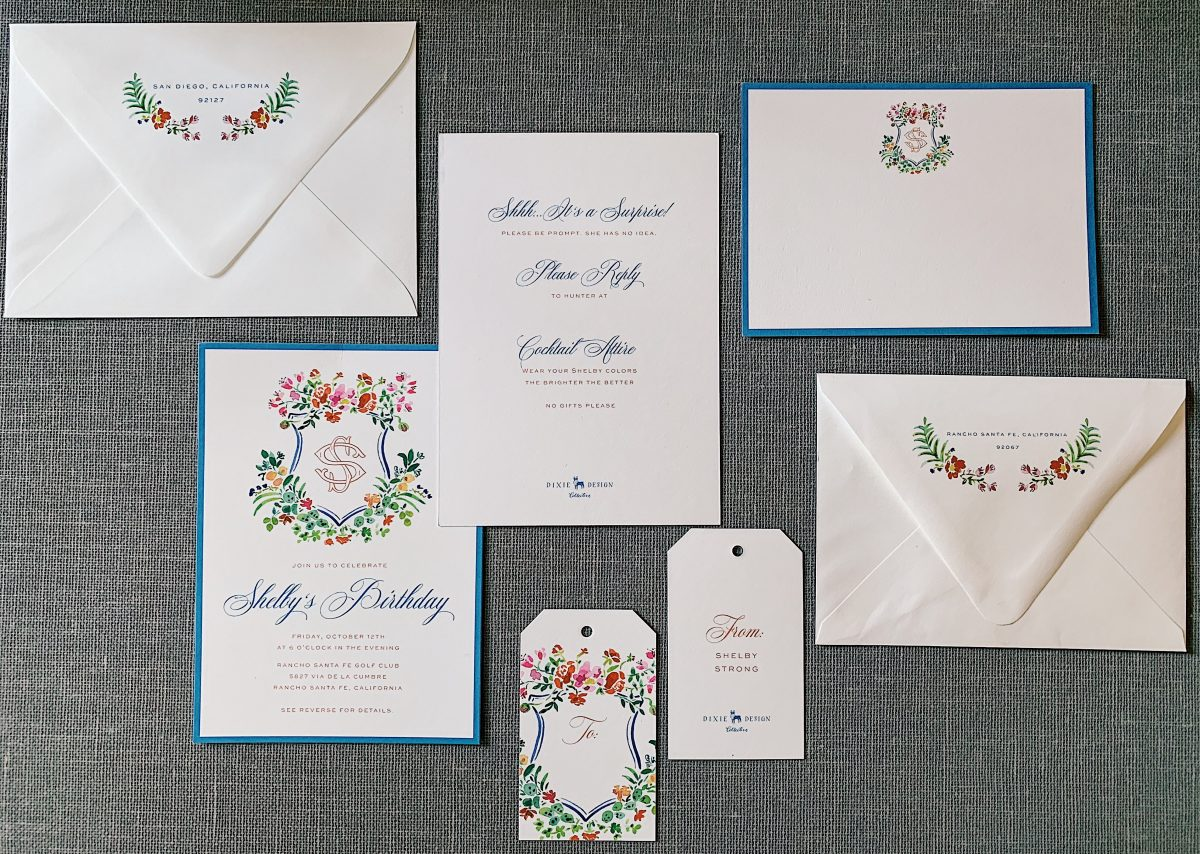 dixie designs custom invitation