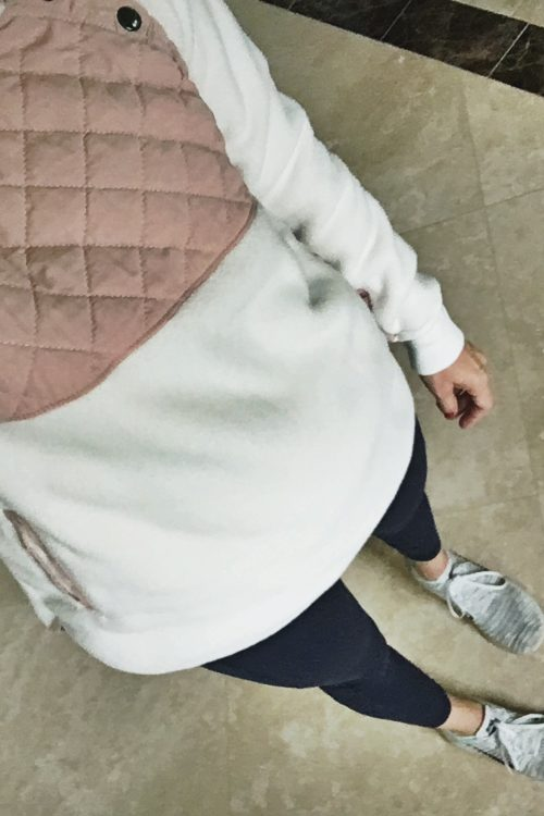 asymmetrical snap fleece