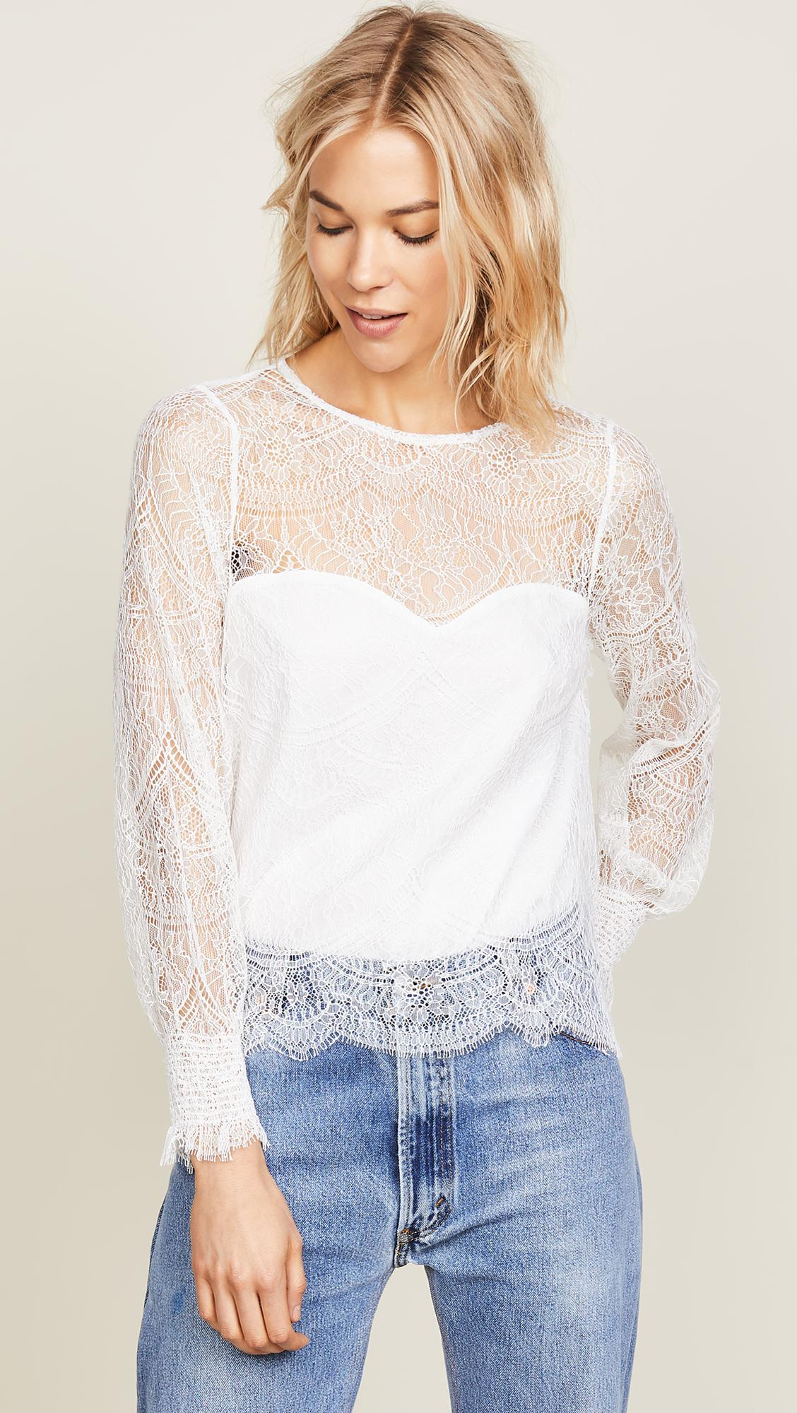 white lace jenevra top