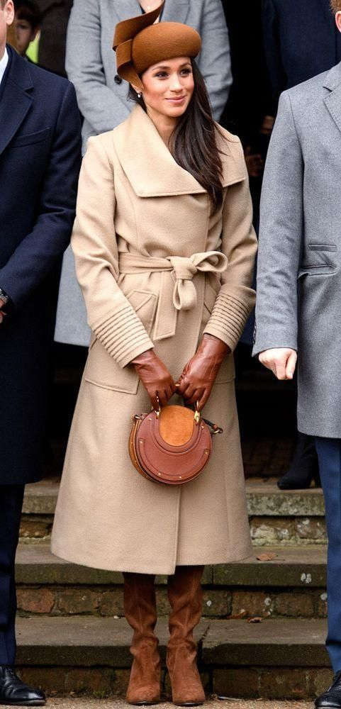 meghan markle tan coat