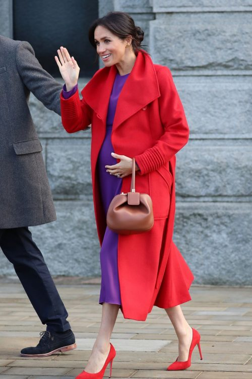 Meghan Markle Style: Red Coat