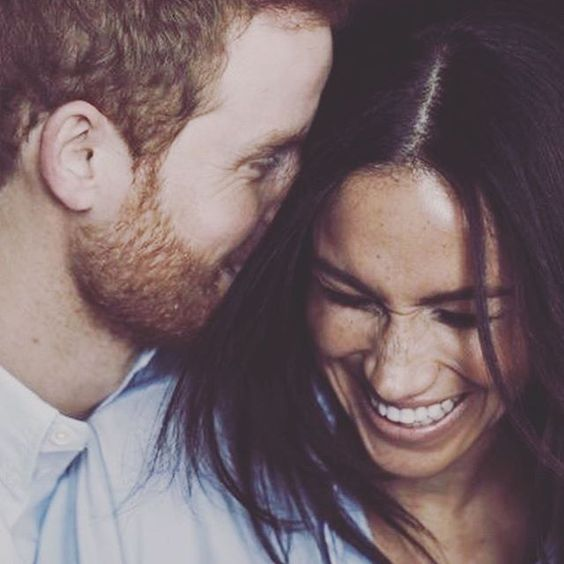 meghan and harry laughing
