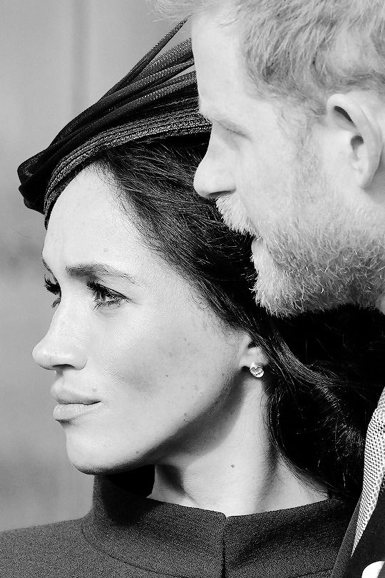 candid of Meghan and Harry