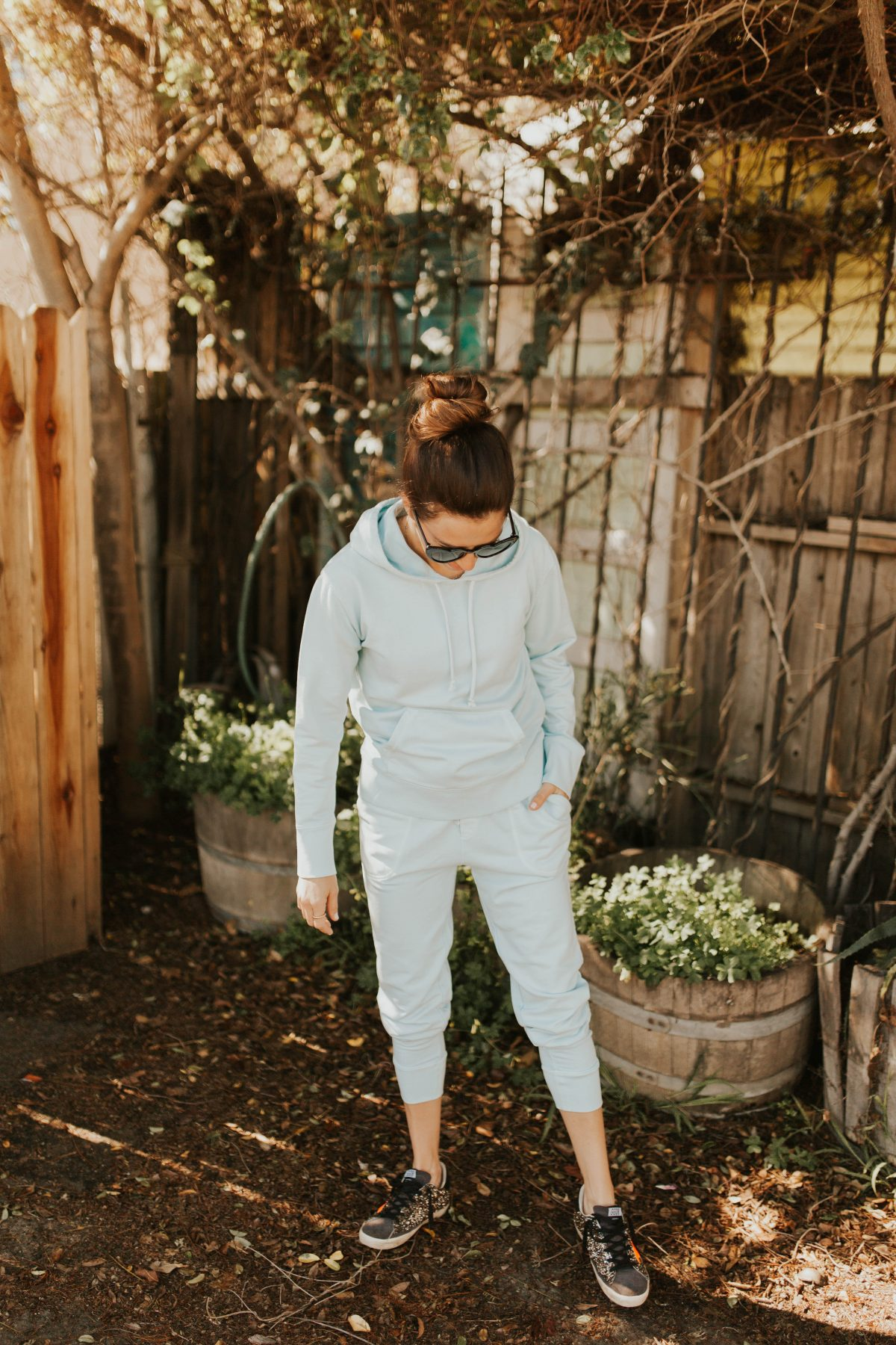 blue tracksuit outfit