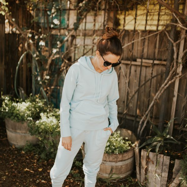 workout Wednesday: blue sweat suit