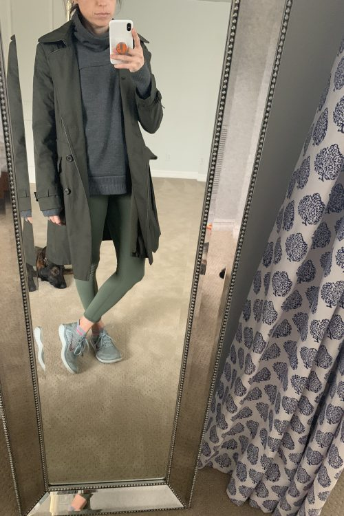 green workout leggings