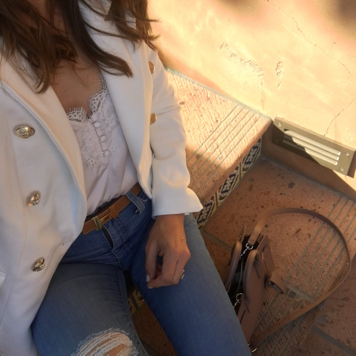 white blazer and cami