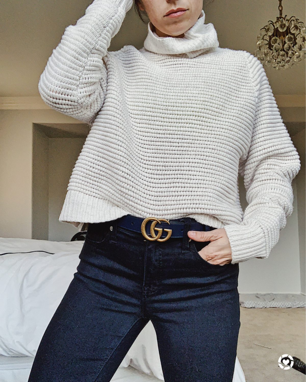 gucci belt and sweater