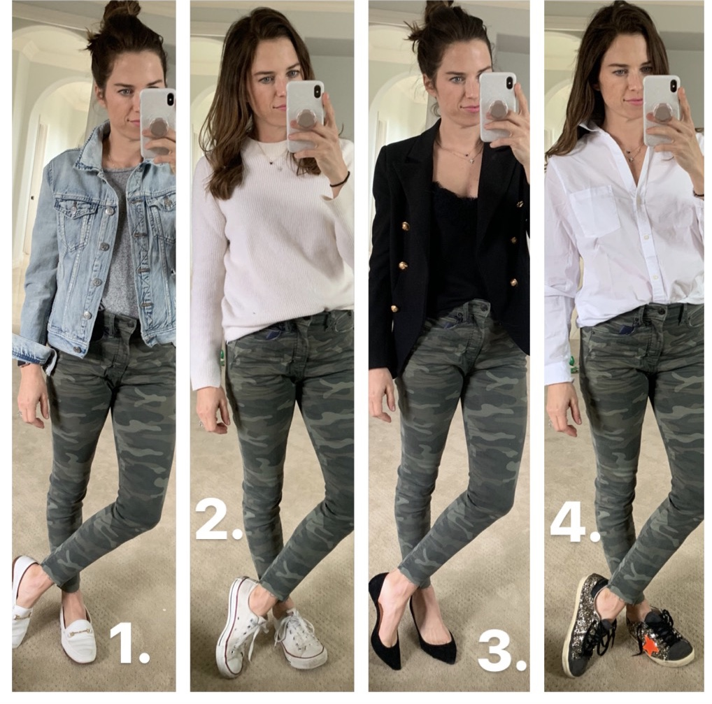 camo jeans outfits
