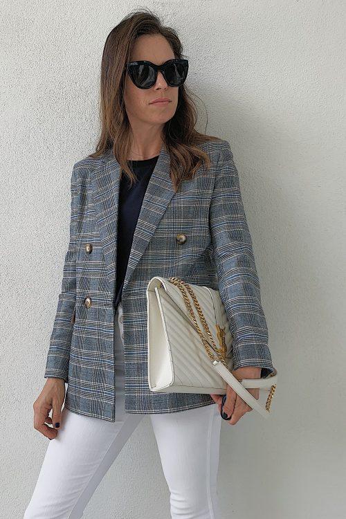 oversized plaid women's blazer