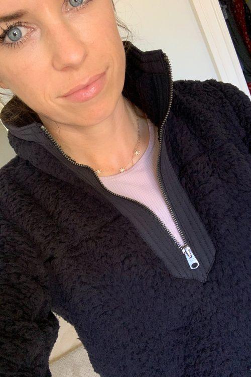 sherpa half zip fleece