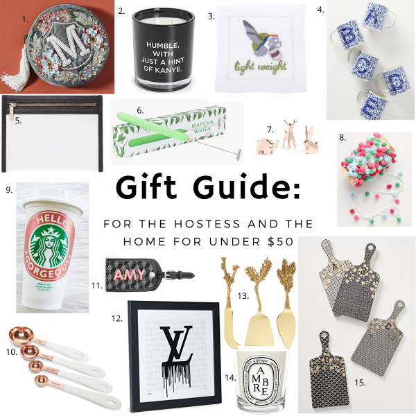 Hostess and Home Gift Guide for Under $50