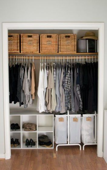 Closet Makeover with Wayfair and My Closet Clean out Rules