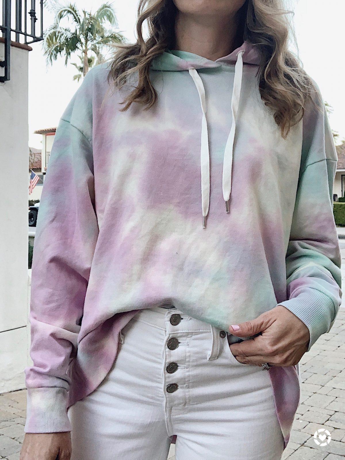 pastel tie dye hoodie